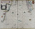 Atlas maritimus, or A book of charts - Describeing the sea coasts capes headlands sands shoals rocks and dangers the bayes roads harbors rivers and ports, in most of the knowne parts of the world. (14750297341).jpg