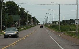 Auburndale, Wisconsin - Image: Auburndale Wisconsin Looking East US10