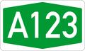 Autokinetodromos A123 number.png
