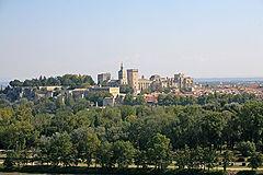 Avignon, Rocher des Doms et Palais des Papes by JM Rosier