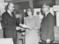Award ceremony in honor of Sally J. Ketcham, Metallurgist hq37vn78c.tiff