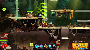 Video game graphics - Awesomenauts is a side scrolling MOBA game.