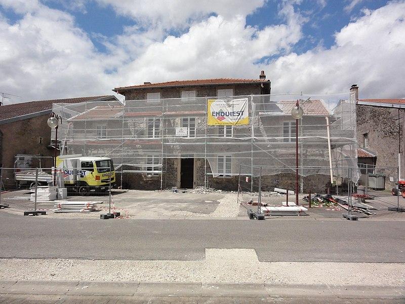 Azelot (M-et-M) mairie en travaux, 2016