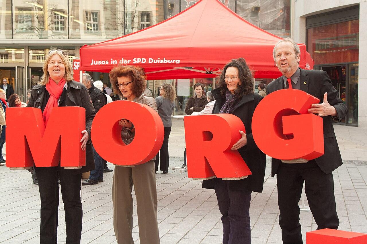 Bärbel Bas, Gisela Walsken, Andrea Nahles, Rainer Bischoff, SPD, NRW, Duisburg.jpg