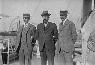 Basil Phillott Blackett - Image: B.B. Blackett and Octave Homberg and Ernest Mallet in 1915 arriving in New York City to appeal for financial aid