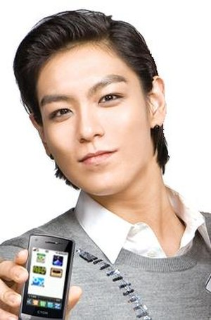T.O.P (rapper) - T.O.P posing for an LG Phone commercial in 2009