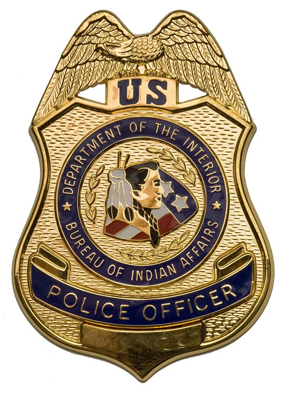 File bia police officer wikimedia commons - United states department of the interior bureau of indian affairs ...