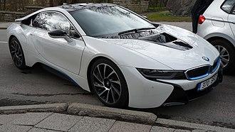 BMW i8 - Image: BMW automobile in Toompea
