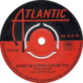 Babe I'm Gonna Leave You by Led Zeppelin Side-A Greece vinyl.png