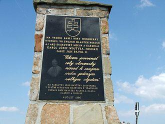Babia Góra - Babia hora memorial of John Paul II