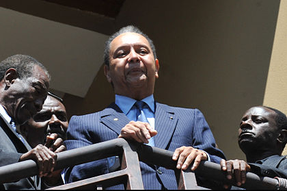 "Jean-Claude ""Baby Doc"" Duvalier succeeded his father François ""Papa Doc"" Duvalier as the ruler of Haiti after his death in 1971. Baby Doc.jpg"