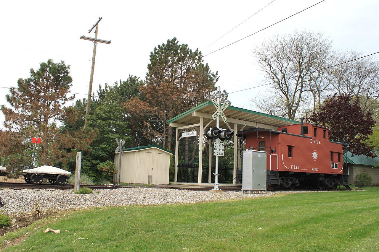file backyard train depot york township michigan jpg