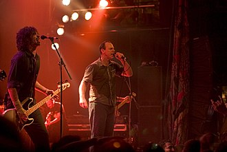 Bad Religion - Bentley (left) and Graffin (right) with Bad Religion, live in the House of Blues, 2005.