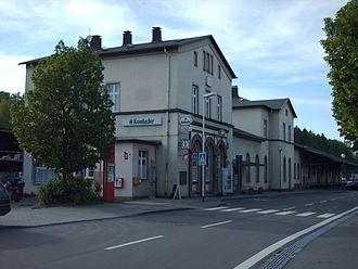 Finnentrop–Freudenberg railway - Bahnhof Olpe