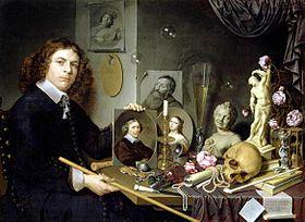 bailly david self portrait with vanitas symbols. Black Bedroom Furniture Sets. Home Design Ideas