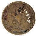 Baksida av medalj med stork - Skoklosters slott - 99283.tif