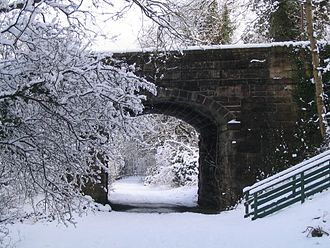 Balerno line - The Balerno line is now a walkway pictured here after a fall of snow