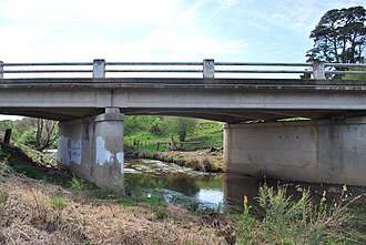 Werribee River - Image: Ballan Werribee River Melbourne Road 002