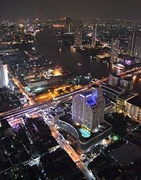 Bangkok Thailand Night View of the City from Lebua State Tower.JPG
