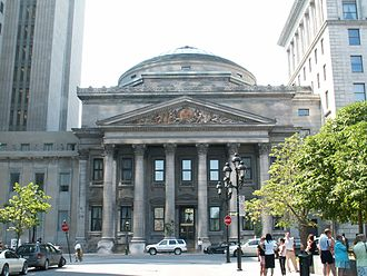 John Wells (architect) - Head Office of the Bank of Montreal in Old Montreal, designed and completed by Wells in 1847