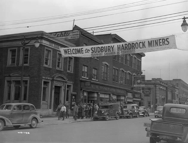 Banner in Sudbury, Ontario, circa 1942