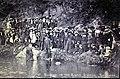 Baptism in the River Gwuan Fishguard Rev Dan Davies circa 1904-05.jpg