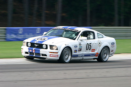 A GT racing version of the Ford Mustang, competing in the Koni Challenge in 2005 Barbers02.jpg