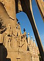 Barcelona Sagrada Familia sculptures Passion facade 01.jpg