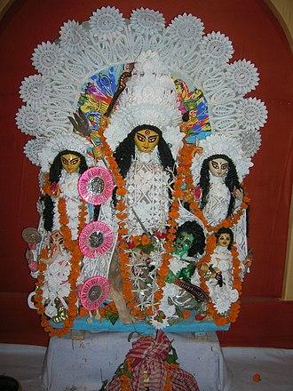 Chalchitra - Sabeki Durga idol with Chalchitra
