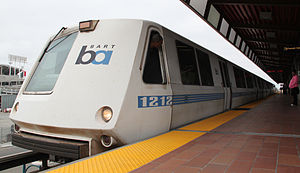Bay Area Rapid Transit rolling stock - Image: Bart A car Oakland Coliseum Station