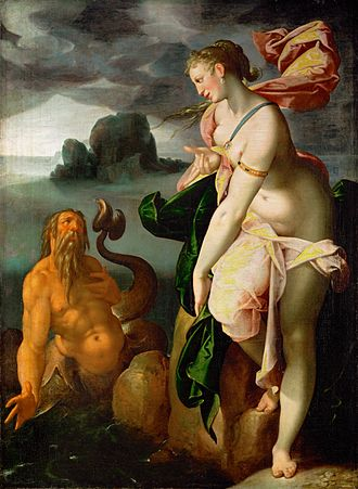 Glaucus - Glaucus and Scylla by Bartholomeus Spranger.