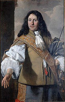 c64246b2 Emanuel de Geer wearing a military sash over a buff jerkin and sporting a  cravat with it in 1656, portrait by Bartholomeus van der Helst