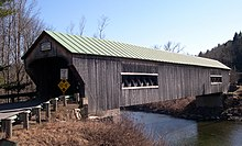 a photograph of Bartonsville Covered Bridge