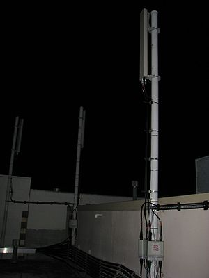 Base transceiver station - A BTS mounted on a building