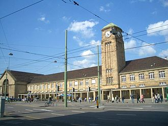 Baden main line - The Baden station in Basel opened in 1913