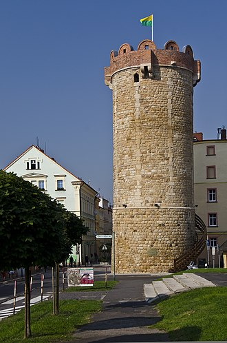 Złotoryja - Preserved tower of the historic town fortifications