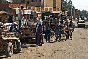 Bahariya Oasis - Workaday life in el-Bawiti, Bahariya oasis