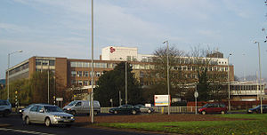 Buckinghamshire New University - High Wycombe campus in 2004, before construction of the Gateway Building