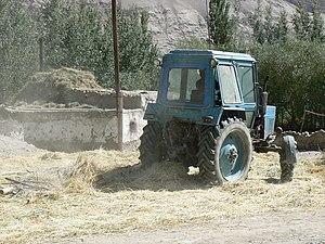 Agriculture in Tajikistan - A Belarus tractor in Tajikistan