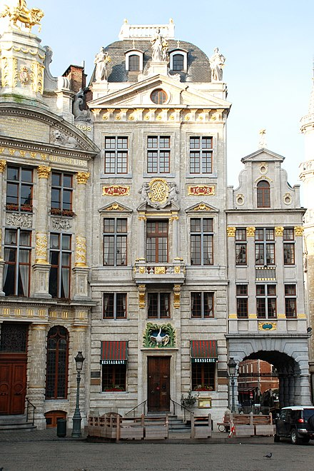 La Maison du Cygne (the Swan Tavern), Brussels, where the Communist Manifesto was written Belgique - Bruxelles - Grand-Place - Maison du Cygne - 01b.jpg