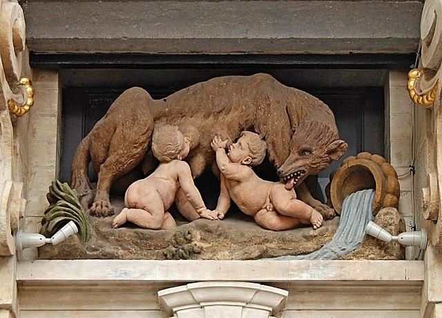 La loba luperca en el mito de la fundación de Roma