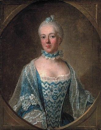 Isabelle de Charrière - Belle de Zuylen by Guillaume de Spinny 1759 Zuylen Castle