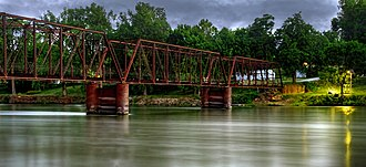 National Register of Historic Places listings in Mahaska County, Iowa - Image: Bellfountain Bridge
