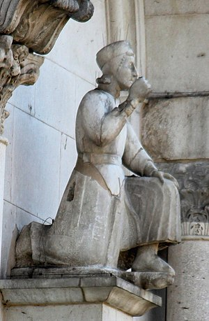 Lucius Orbilius Pupillus -  Statue at Benevento Cathedral, perhaps antique and representing Lucius Orbilius Pupillus