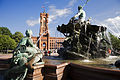 Berlin- The Rotes Rathaus with the Neptunbrunnen in front - 2761.jpg