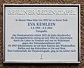 Berliner Gedenktafel Steinrückweg 7 (Wilmd) Eva Kemlein.jpg