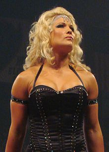 Mickie james and trish stratus vs candice michelle and victoria tag team match raw 2005 - 3 8