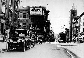 Bevo - Billboard advertising Bevo in Trenton, New Jersey, 1917