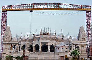 Shri Swaminarayan Mandir, Bhuj (New temple) - Image: Bhuj Temple under construction