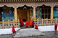Bhutan - Punakha Dzong - Monks called to prayers - panoramio.jpg